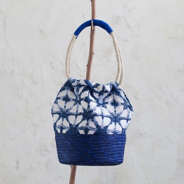 Bolso Ikat Azul