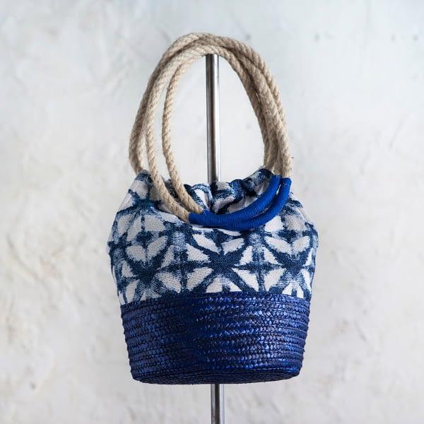 Bolso Ikat Azul Largo
