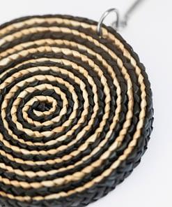 Pendiente Ikat Espiral